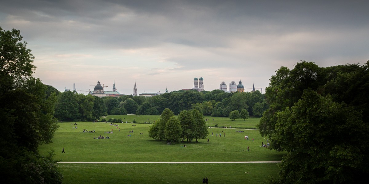 Vue Sur Munich Depuis L'Englischen Garten