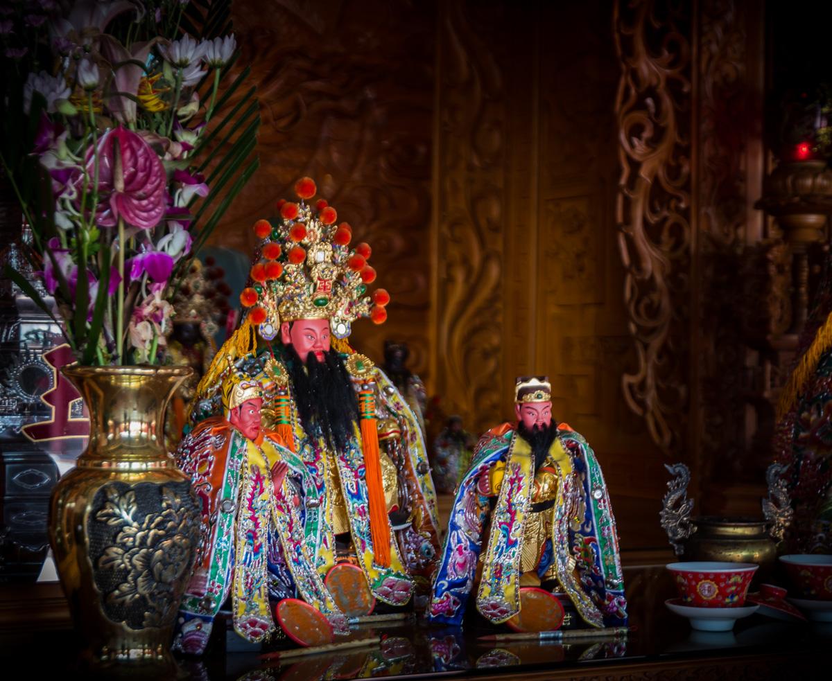 L'intérieur d'un temple à Tainan