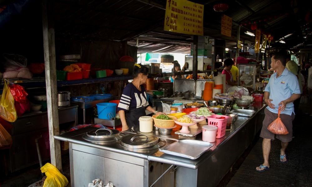 Restaurant De Rue Dans Le Chinatown à Kuala Lumpur