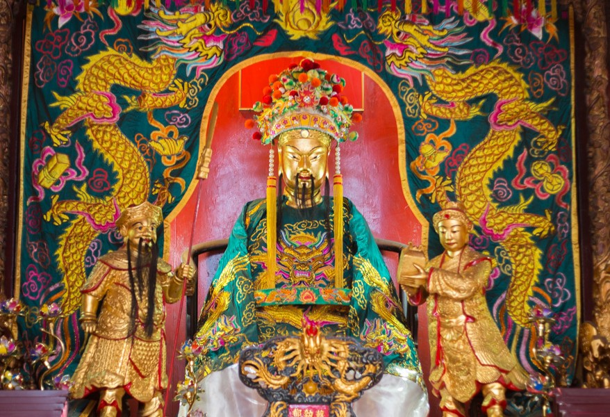 Guandi Dans Le Temple Kuan Ti à Kuala Lumpur