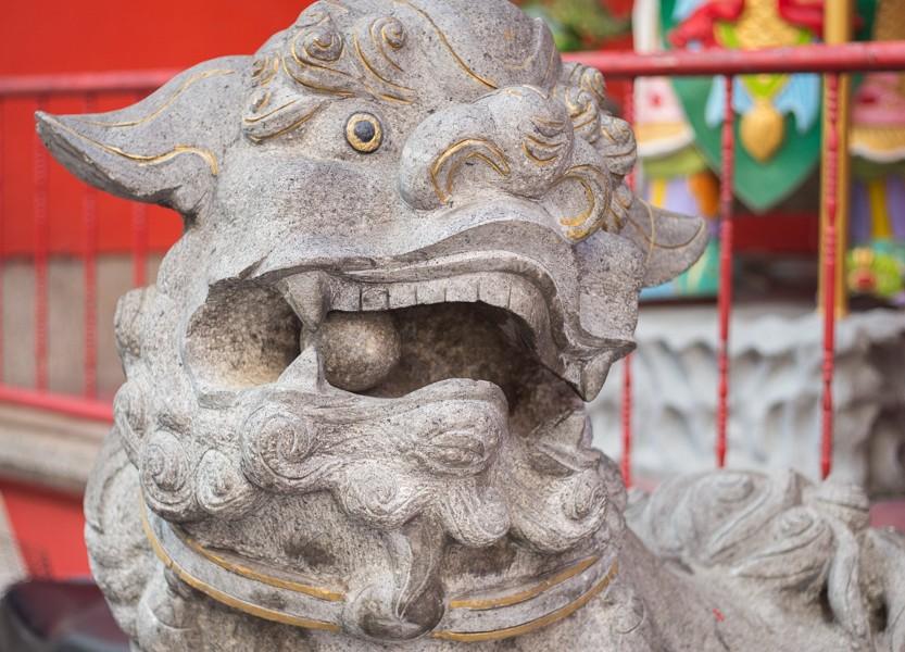 Dragon à L'entrée Du Temple Kuan Ti à Kuala Lumpur