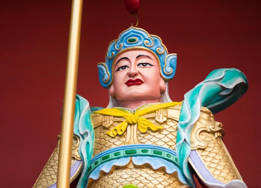 Statue De Guandi Dans Temple Kuan Ti à Kuala Lumpur