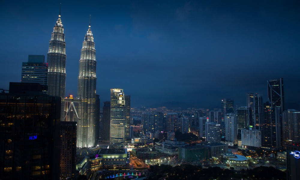 Vue De La Piscine Sur Kuala Lumpur