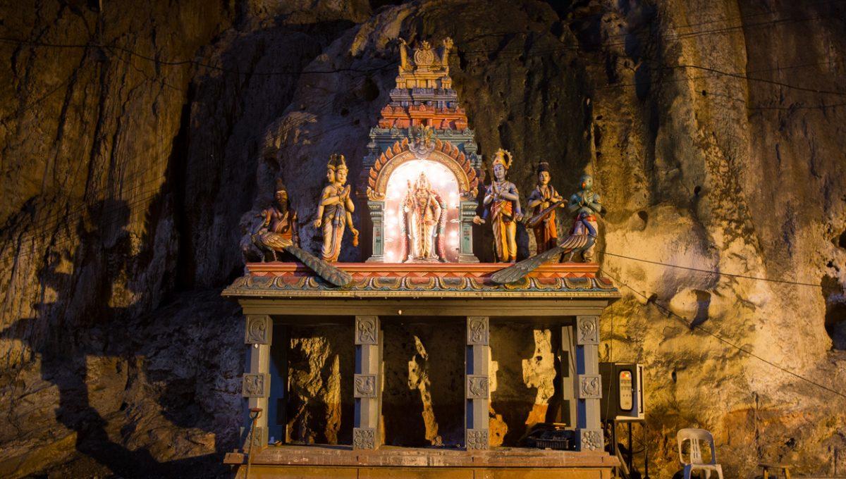 Temple Hindou à L'intérieur Des Grottes De Batu
