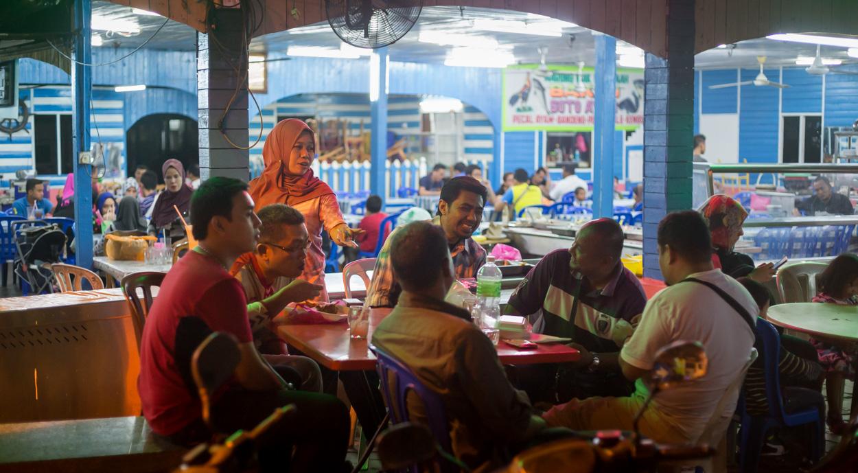 Restaurant Dans Le Quartier De Kampung Baru