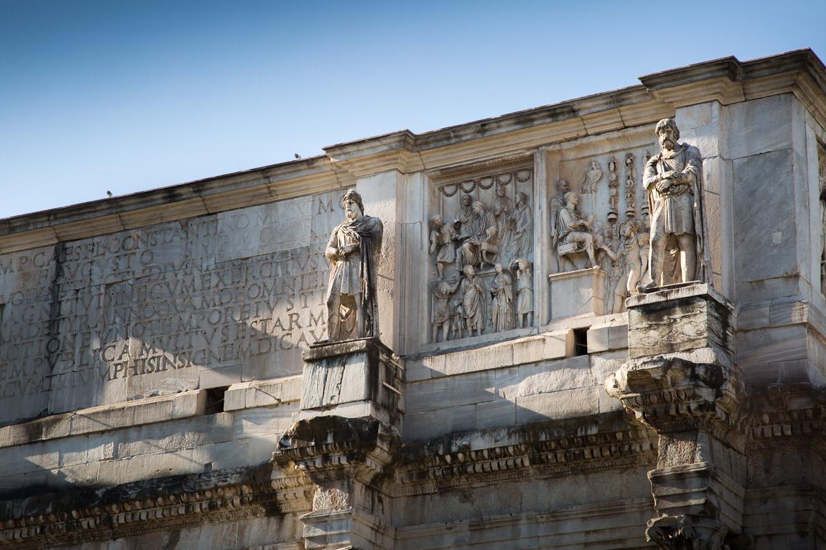 L'Arc De Constantin à Rome En Italie
