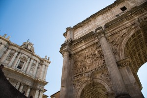 L'Arc De Septième Sévère Au Forum Romain
