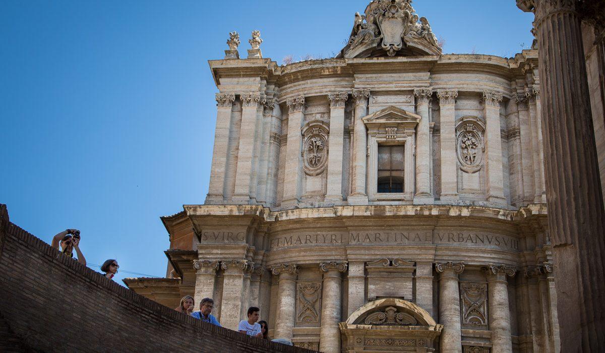 L'Eglise Santi Luca E Martina à Rome