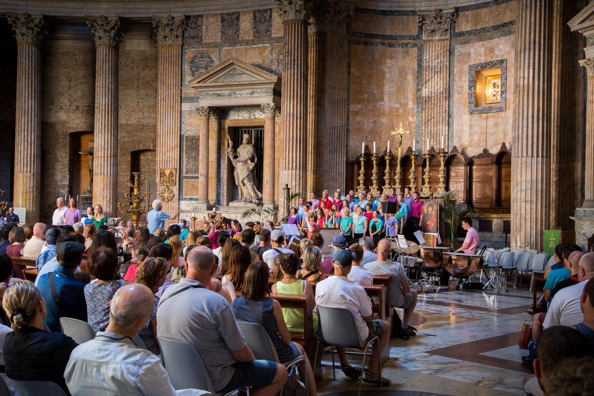 L'intérieur Du Panthéon De Rome
