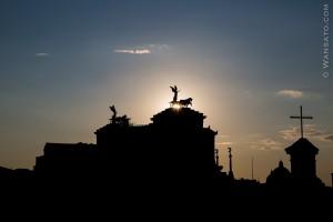 Italie - Vue De L'Hotel Forum à Rome