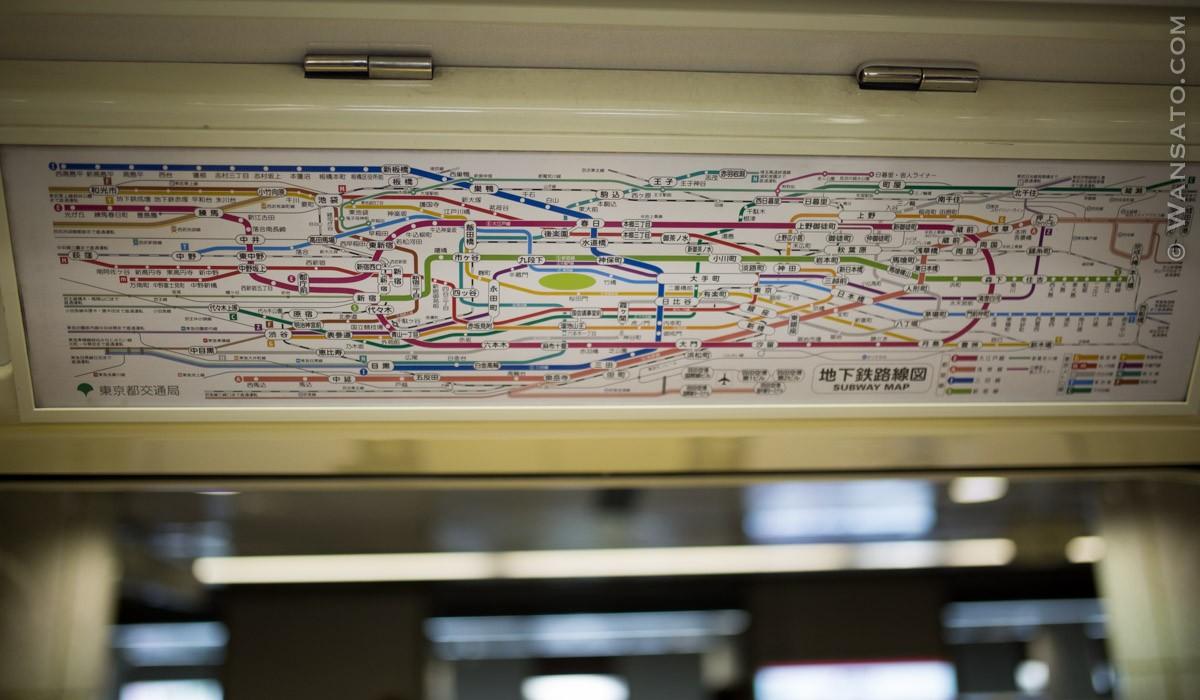 Japon - Carte Du Métro De Tokyo