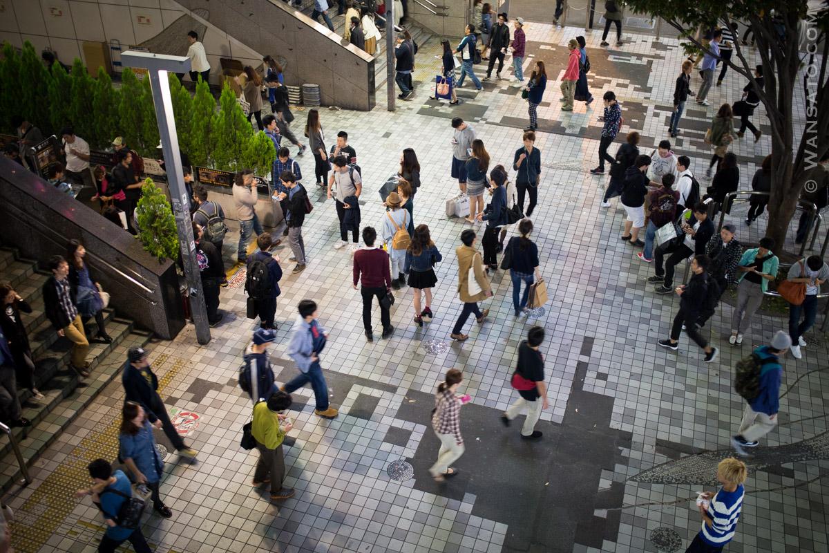 Japon - Place Fréquentée à Shinjuku