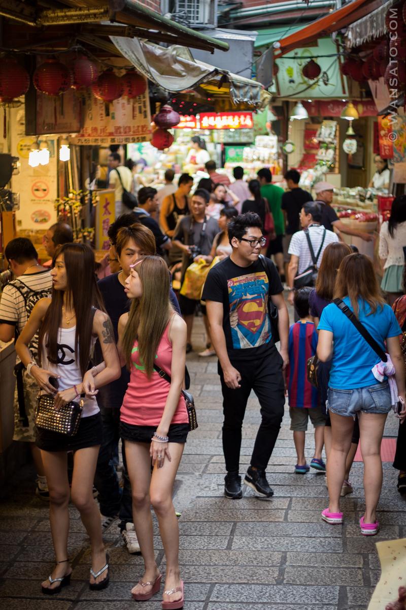 Taiwan – Rue Touristique à Jiufen