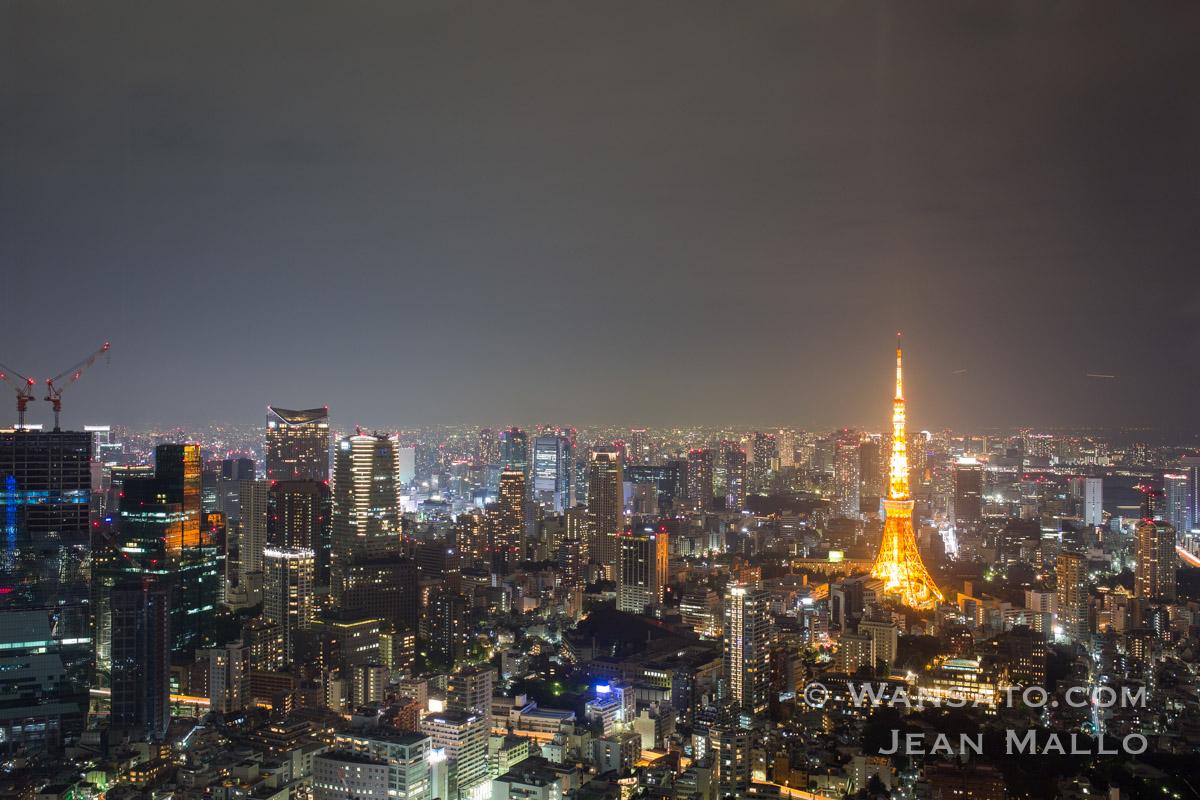 Japon - La Tokyo Tower Vue Depuis La Mori Tower