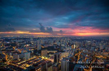 Coucher De Soleil Sur Singapour