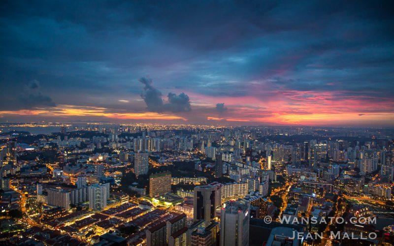 Portfolio Coucher De Soleil Sur Singapour