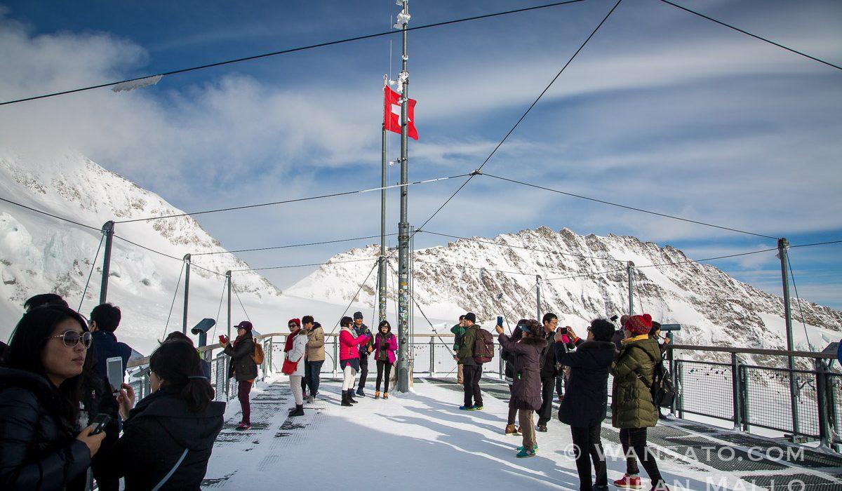 Suisse - La Plateforme Extérieure De La Jungfraujoch
