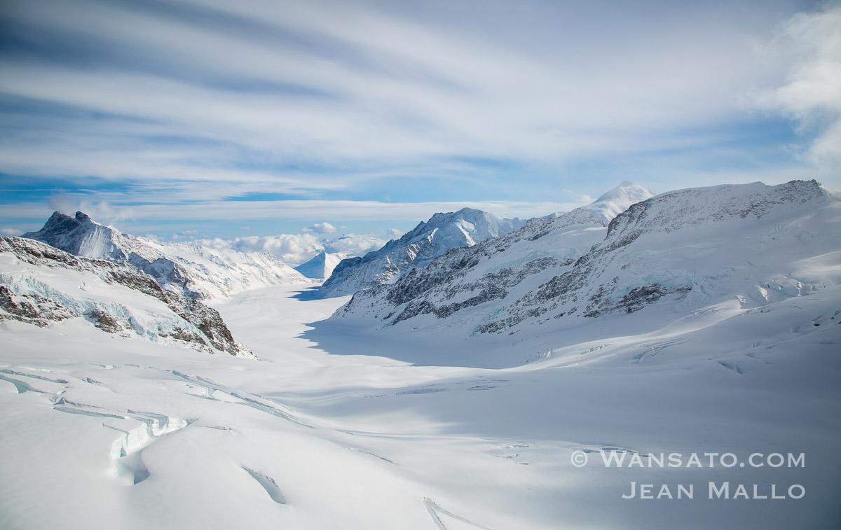 Suisse - Le Glacier D'Aletsch à La Jungfraujoch.